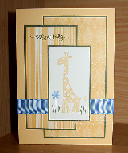 Baby card wild about you