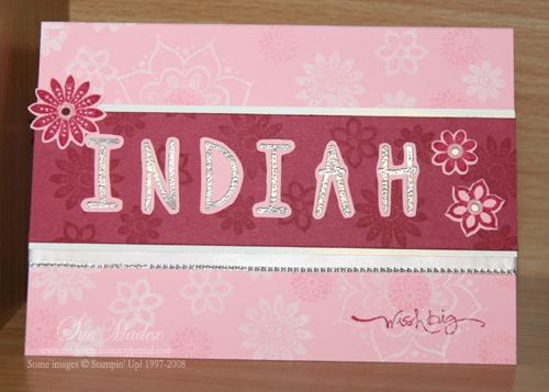 Indiah card