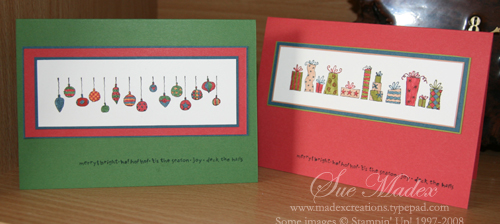 Christmas markers cards